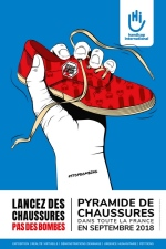 Pyramide de chaussures Nice 2018-Affiche